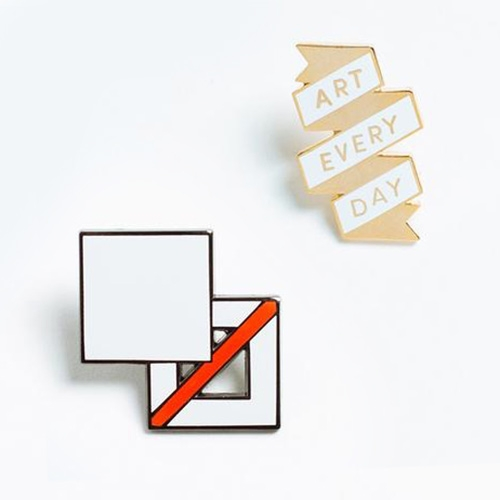 Art Every Day + Fill or No Fill? Part of the Poketo signature pin collection