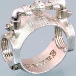 Sterling silver Pipe ring by Gandolfi.