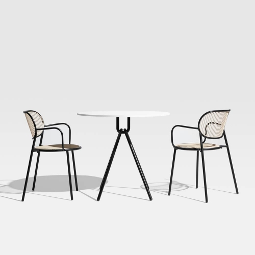 The Piper Range by GibsonKarlo for DesignByThem pairs indoor quality and charm with outdoor durability. The backrest and seat can even be interchanged with various colours and upholstery finishes.