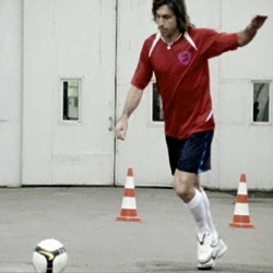 New spot from Nike Take to the Next Level campaign celebrating italian player Andrea Pirlo and his cursed free kick.