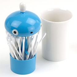 'ALESSI PISELLINO', a cute cotton swab container.