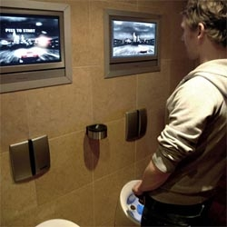 ok, i almost fell over when i saw this one.  a piss screen.  control a video game with your pee...an attempt to encourage potential drunk drivers to get a cab.