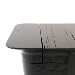 By designer Nicolai Czumaj-Bront, the Pitch Stool is made from reclaimed wood. The latest,  no. 11, comes in Pitch Black.