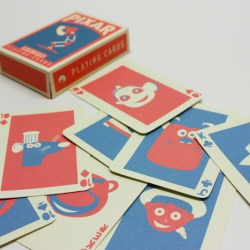 Amazing Pixar themed playing cards. Brilliantly stylised.