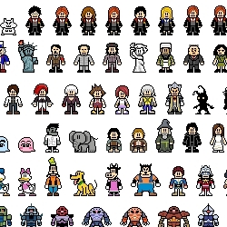 Can you recognize a pixelated Harry Potter? How many else iconic figures do you see? An interesting pixel art project by a Hong Kong Chinese.