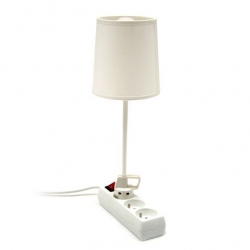 Plug Lamp! At La Corbeille Paris. Brilliant little lamp that plugs right into your european power strip!