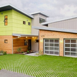 This stunning home in Kirkland, Wash. is one in a series of prefabricated homes called PLACE Houses designed by architect Heather Johnston.