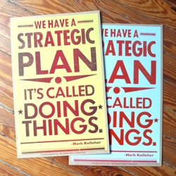 Baltimore Print Studio's popular Strategic Plan posters are back in stock, this time in two colors. Grab one while they last!