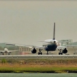 Compressing about 70 minutes of take-offs at Boston's Logan International Airport into just over 2:30.