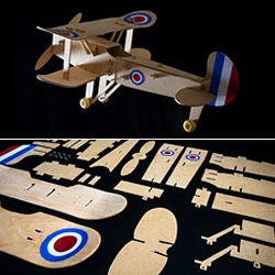 Skateboard Plane Model Kit, by Roman Sviridov.