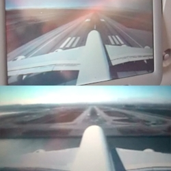 New tailcam feature on the A380 commercial aircraft shows you an outside view of the plane.  Images are broadcast onto the seat-back monitors so you can watch yourself take off, land and generally fly around.