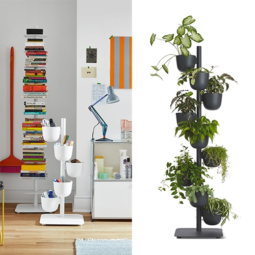 The Story Planter designed by Afteroom for Design Within Reach is so lovely! Available in black and white, 5 and 9 piece and pairs so well with their iconic Story Bookcase stack!