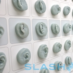Slashgear join Plantronics for their 50th anniversary, and see the infamous wall of ears in their industrial design labs.