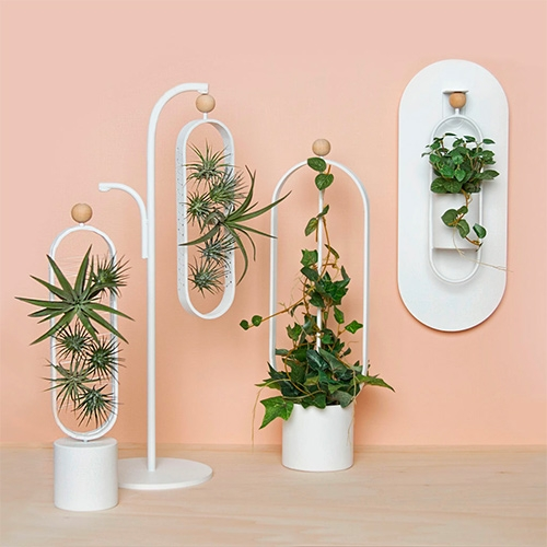 OASIS Modular Plant System by Michelle Kartokusumo. The magnetic modules can be hung or placed on desktop stands or on the wall.