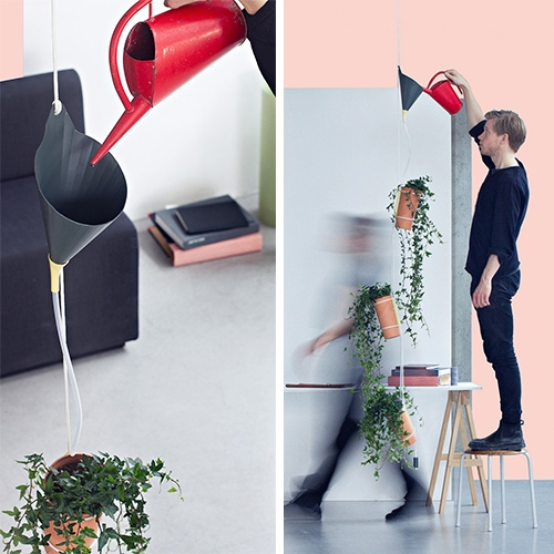 Babylon Growing Air Purifier by Elias Monzòn. Babylon is a two-part pot in earthenware. By pouring water into the funnel you irrigate all plants in one go.