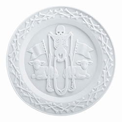 Royal Tichelaar Innocence Plate in fine bisque porcelain at Rose and Radish.