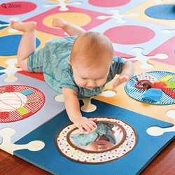 Skip Hop PLAYSPOT add on - Funspot Activity Circles. Great idea to turn the interlocking foam baby floor tiles into a more versatile and engaging space!