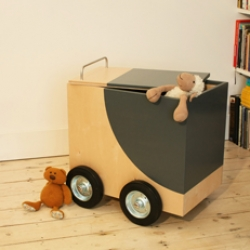 Playbox is the perfect mix of storage space and an indoor ride.