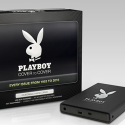 Every issue of Playboy Magazine from 1953 - 2010 on a sexy portable hard drive.