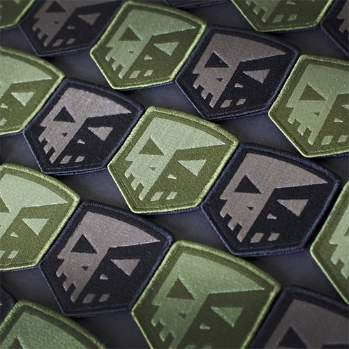Playge X Prometheus Design Werx Stealth Sqube Embroidered Patch (with velcro back) by Ferg!