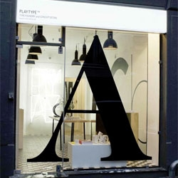 Playtype foundry and concept store in Copenhagen by e-Types.