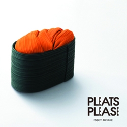 Issey Miyake's Pleats Please print ads. fabrics from the  collection were used to create sushi.