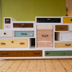 So many (old) drawers in great new furnitures made by Hamburg based Entwurf Direkt.