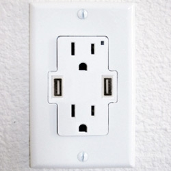 TruePower UCS Power Outlet With Built in USB Ports ~ awesome idea!