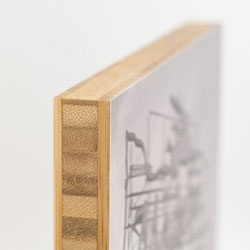 Plywerk, an a frame-free ecoconscious way to exhibit artwork and photos.