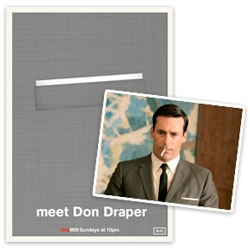 Sydney-based graphic designer Christina Perry has created a series of posters celebrating the pocket squares of Mad Men's male leads.