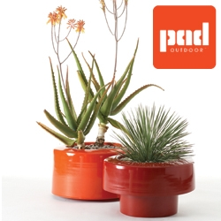 Planters indoor/ outdoor: aluminum, several configurations. Very light, economic  to ship, very happy POD's by PAD Outdoor.