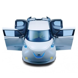 Beautiful design for the future Nissan Townpod EV.