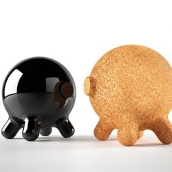 I love things that are adorably efficient, if that makes any sense. Designed by Joel Escalona, this piggy bank can also function as a stool - all while looking good in any setting whether you're six or sixty.