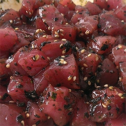 Poke! Our simple recipe that we use with fresh salmon and tuna!