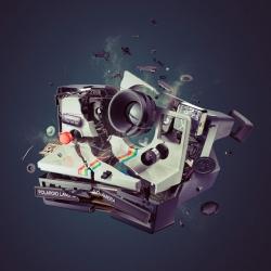Photos of Exploding Cameras by Staudinger + Franke.