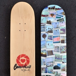 """fun, new """"West Coast Polaroid Skate Deck"""" from Jeremy Kennedy & Cameraluv"""