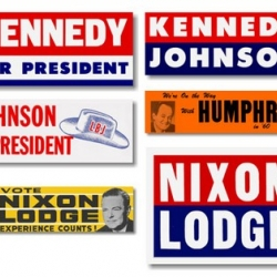 Amazing collection of USA political election logos 2008-1960