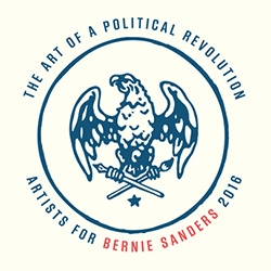 "Art inspired by politics (reminiscent of the Obama inspired art shows) - HVW8 Gallery and Bernie Sanders 2016 Present ""The Art of a Political Revolution"" featuring both artists and musicians to inspire change throughout the nation."