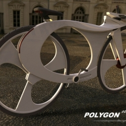 Reindy Allendra's has created a cool and sleek concept bike.  The approach to the Polygon bike design concept was to combine a music player with a standard bike.