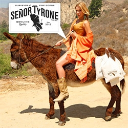 Señor Tyrone has launched a Poncho Express Delivery Service in LA ~ in case you get chilly, just tweet them and they'll show up in under an hour with all 9 options and swipe your credit card. I wonder if they show up on a donkey?