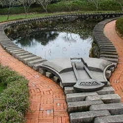 Zipper Lotus Pond created by a renowned Taiwanese sculptor Ju Chun.