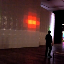 Video of 'boxLEDs Pong' with IR tracking by Christoph Pacher  for the Media Architecture Biennale 2010.