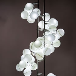 Another artsy but very cool light assembled from ping pong balls and can be ordered in a table or floor configuration.