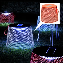 Coalesse's Emu Ivy Pouf - outdoor ottoman with a solar panel to illuminate beneath the pouf at night!