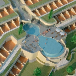 The Yeatman Hotel opening in Porto, Portugal ~ is a Wine Hotel! Complete with Caudalie spa and decanter shaped pool...