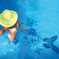 New collection of Pool decals from Couture Déco. Enhance your swimming pool with style as easy as 1,2,3 with NO need to empty your swimming pool.