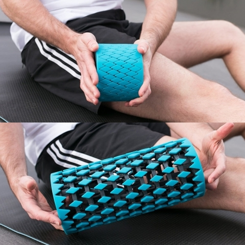 Neofit Roller is a collapsible foam roller. It compacts to just 4 inches and can go anywhere you do.