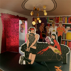 Chandelier Creative Pop UP Book turns into quite the illustrated penthouse of awesomeville... take a peek at all the details!