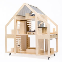 Liliane Limpens makes stunning contemporary dollhouses, like this one called Poppenvilla.