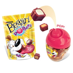 Beggin' Party Poppers Dog Treats - adorably smart packaging - pop a treat on the pigs nose, press it in, and out it pops!